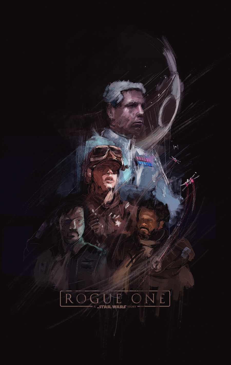 Rogue One Poster by Rafał Rola