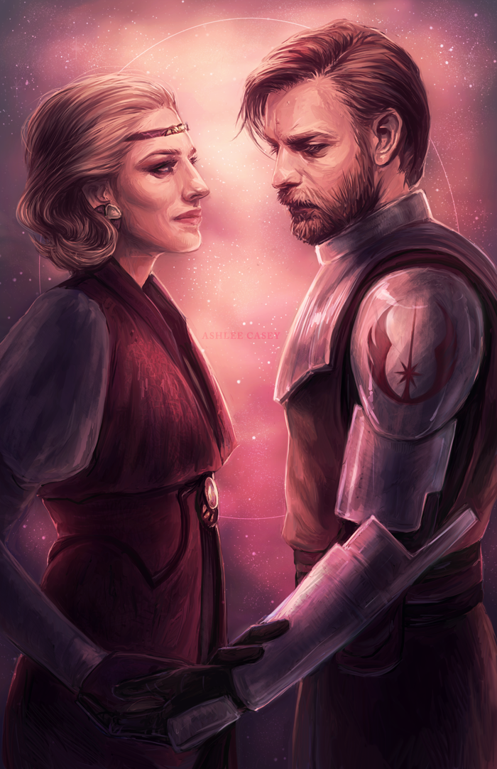 Satine And Obi-Wan Kenobi by Ashlee Casey